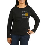 Band Is Great Pocket Image Women's Long Sleeve Dar