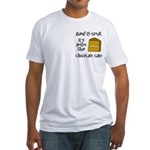Band is Great Pocket Image Fitted T-Shirt