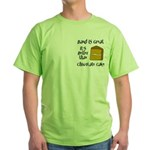 Band is Great Pocket Image Green T-Shirt