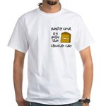 Band is Great Pocket Image White T-Shirt