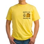Band is Great Pocket Image Yellow T-Shirt