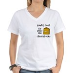 Band is Great Pocket Image Women's V-Neck T-Shirt