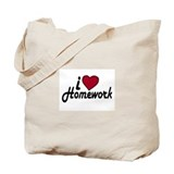 I Love Homework (Back to School) Tote Bag