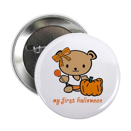 "My First Halloween (Girl) 2.25"" Button (10 pack)"