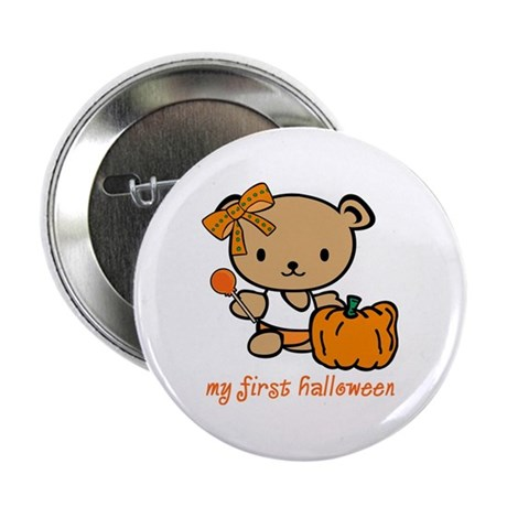 My First Halloween (Girl) Button