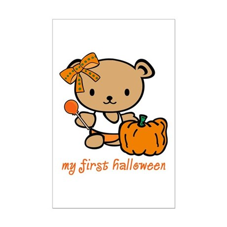 My First Halloween (Girl) Mini Poster Print