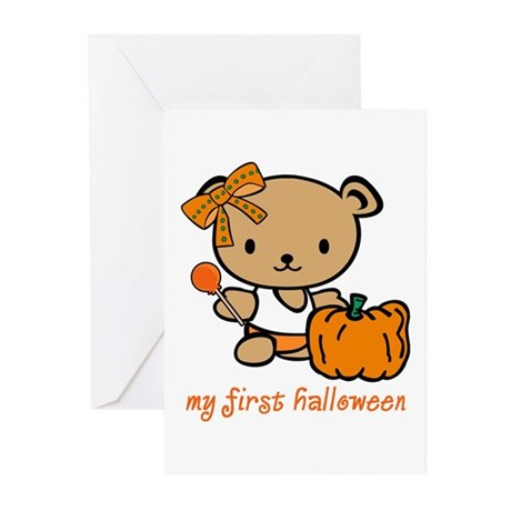 My First Halloween (Girl) Greeting Cards (Package