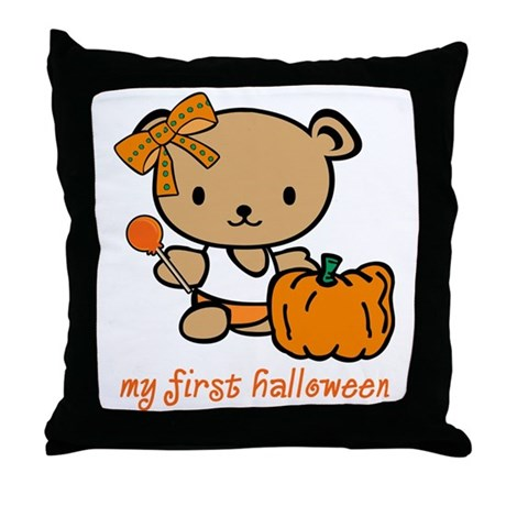 My First Halloween (Girl) Throw Pillow