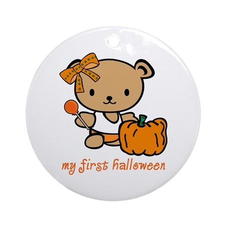 My First Halloween (Girl) Ornament (Round)