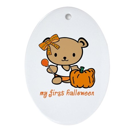 My First Halloween (Girl) Oval Ornament