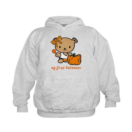 My First Halloween (Girl) Kids Hoodie