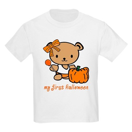 My First Halloween (Girl) Kids Light T-Shirt