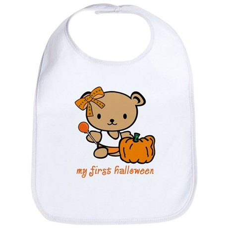 My First Halloween (Girl) Bib