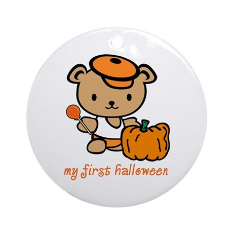My First Halloween (Boy) Ornament (Round)