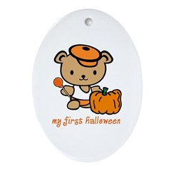 My First Halloween (Boy) Oval Ornament