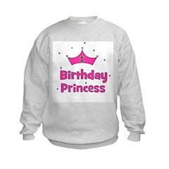 1st Birthday Princess! Kids Sweatshirt