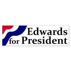 Edwards for President bumper sticker