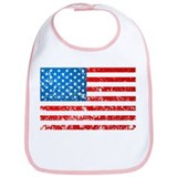 Old Glory USA Flag Distressed Look Bib