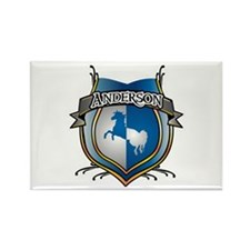 Anderson Coat of Arms Name Rectangle Magnet (10 pa