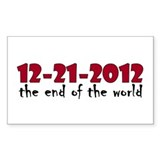 12-21-2012 End of the World Rectangle Decal