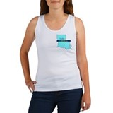 True Blue Louisiana LIBERAL  Women's Tank Top