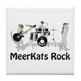 Meerkats Rock Tile Coaster