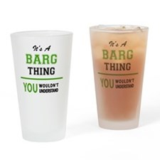 Funny Barges Drinking Glass