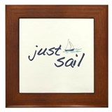 Just Sail Framed Tile