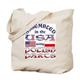USA/Polish Parts Tote Bag