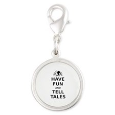 Have Fun Tell Tales Silver Round Charm