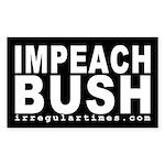Impeach Bush (black bumper sticker)