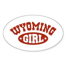 Wyoming Girl Oval Decal