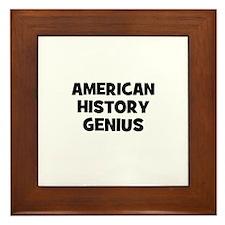 American History Genius Framed Tile