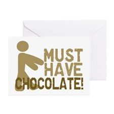 Must Have CHOCOLATE! Zombie Greeting Cards (Packag