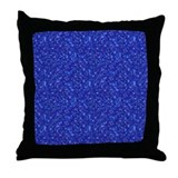 Castle Quilt Mural blue tile  Throw Pillow
