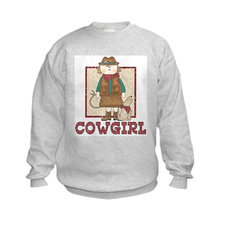 Cowgirl and Coyote Kids Sweatshirt