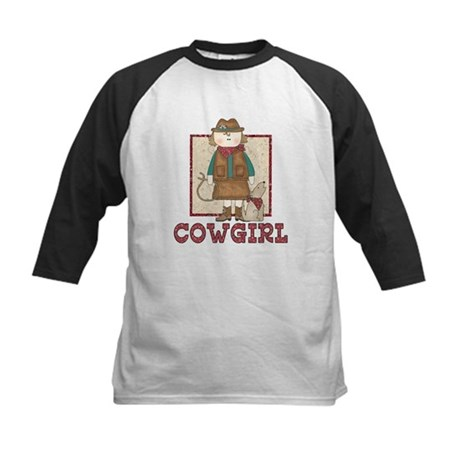 Cowgirl and Coyote Kids Baseball Jersey
