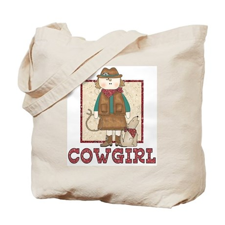 Cowgirl and Coyote Tote Bag