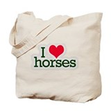 Love horses Tote Bag
