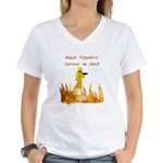 Bad Tippers Serve Women's V-Neck T-Shirt