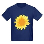 Elegant Sunflower Kids Dark T-Shirt