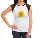 Elegant Sunflower Women's Cap Sleeve T-Shirt