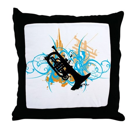 Urban Mellophone Throw Pillow