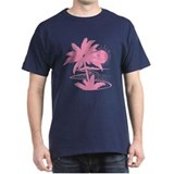 Pink Palm Beach Silhouette T-Shirt