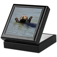 Swimming Otter Keepsake Box