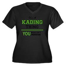 Funny Kade Women's Plus Size V-Neck Dark T-Shirt