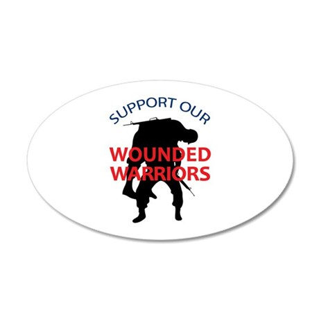 SUPPORT WOUNDED SOLDIERS Wall Decal