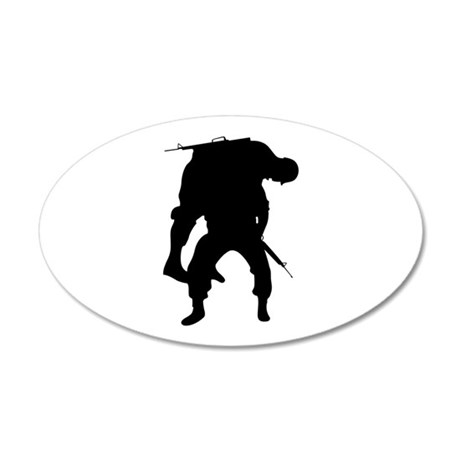 WOUNDED SOLDIER Wall Decal