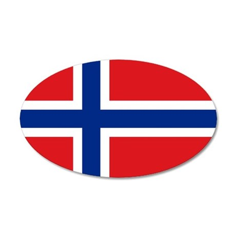 Norway flag 20x12 Oval Wall Decal