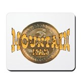 mountain man logo Mousepad